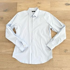 Theory mens button down shirt blue large